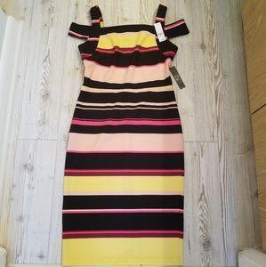 New York & Company Stretch Sleeves Dress